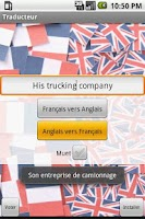 Screenshot of Traducteur Anglais/Francais
