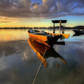 North Borneo Fisherman Boat by Lawrence Chung - Transportation Boats