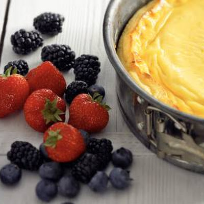 Zomerse Cheesecake Met Rood Fruit