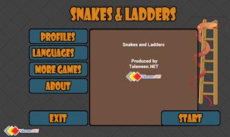 Screenshot of Snakes and Ladders