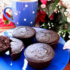 Healthy Deep Dark Chocolate Muffins