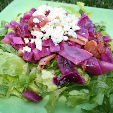 Red Cabbage and Bacon Salad With Blue Cheese