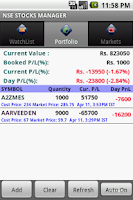 Screenshot of USA Stocks and Portfolio