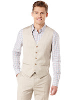 Perry Ellis Textured Suit Vest