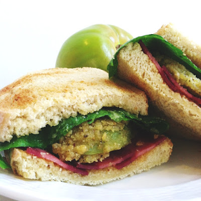 Fried Green Tomatoes 'BLT' with Sriracha Mayo