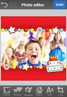 Screenshot of Birthday Photo Frames & Cards