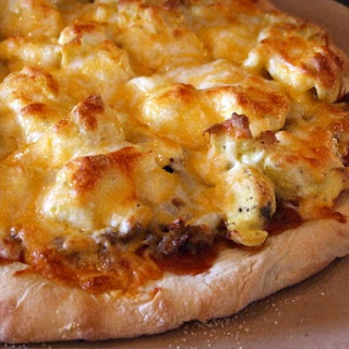 Sausage and Scrambled Egg Pizza