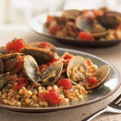 Sardinian Couscous with Clams and Tomatoes