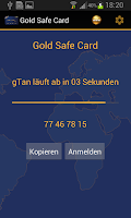 Screenshot of Gold Safe Card