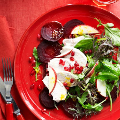 Chicken Salad with Apple, Pomegranate, and Beet