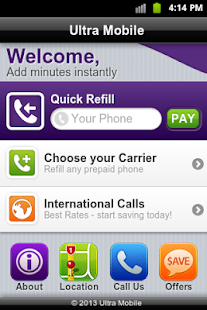 Ultra Mobile Bill Pay - screenshot