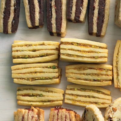 Apricot-Pistachio Layered Icebox Cookies