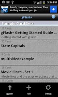 Screenshot of gFlash+ Flashcards & Tests