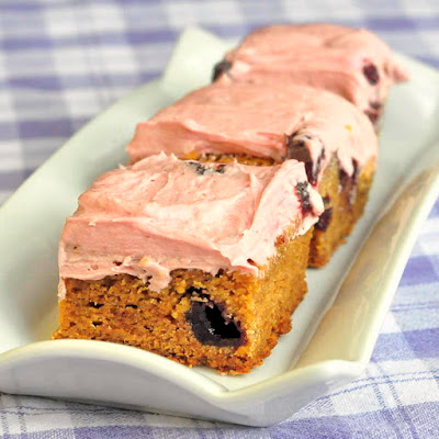 Cherry Cream Cheese Blondies