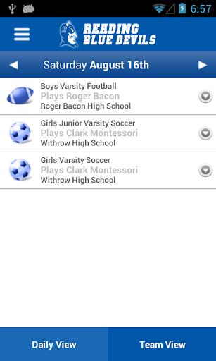 Reading Athletics - screenshot