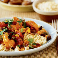 Shrimp and Vegetable Tagine with Couscous