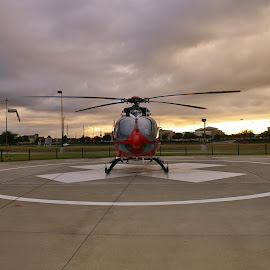 Memorial-Hermann Life Flight by Jim Suter - Transportation Helicopters