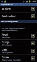 Screenshot of WeerAlarm.mobi