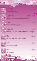 Screenshot of GO SMS Pro Bird Lover Theme