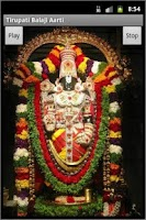 Screenshot of Tirupati Balaji Aarti