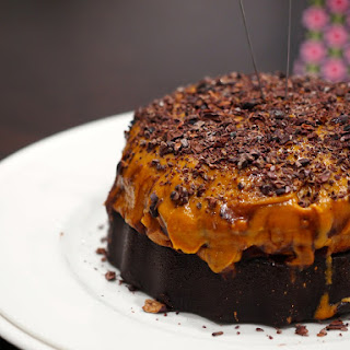 "Giant Healthy Peanut Butter Cup ""Cake"""