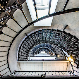 Lighthouse Stairway by David Long - Buildings & Architecture Other Interior