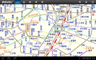 Screenshot of 駅すぱあと for Tablet