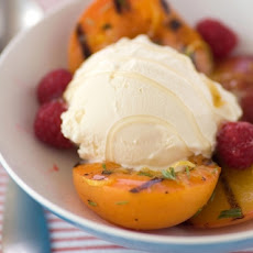 Lavender Grilled Fruits Over Ice Cream