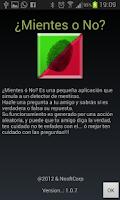 Screenshot of Detector de menteria