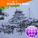 Aizuwakamatsu 会津若松市 Street Map icon