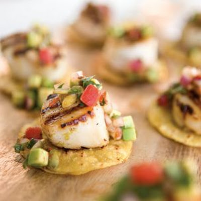 Scallops with Avocado Salsa