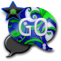 GO SMS THEME/BrightBlueGrn icon