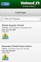 Screenshot of Guia Médico UnimedES - Celular