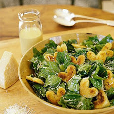 Caesar Salad with Heart Croutons