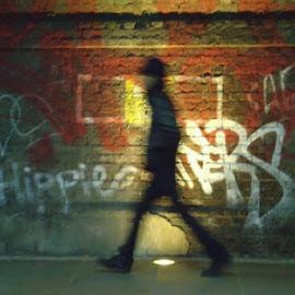 Matchstick Man by Peter Atherton - City,  Street & Park  Street Scenes