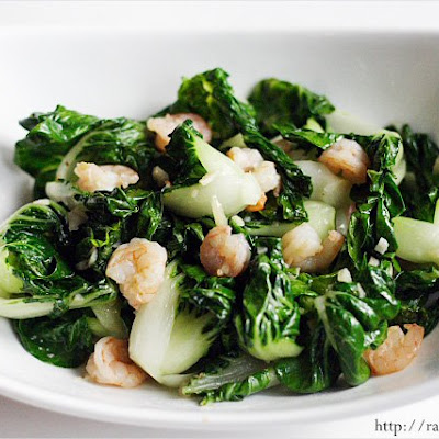 Baby Bok Choy with Garlic and Shrimp