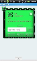 Screenshot of GO SMS THEME/GreenPolkaDot
