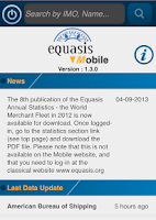 Screenshot of Equasis Mobile