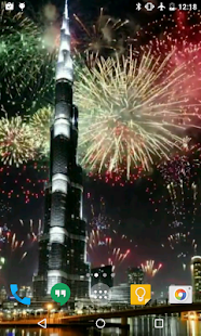 Dubai Fireworks Live Wallpaper - screenshot