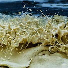 Splashing Wave by Johan Jooste Snr - Abstract Water Drops & Splashes ( water, splashing, wave, sea, foam, namibia )
