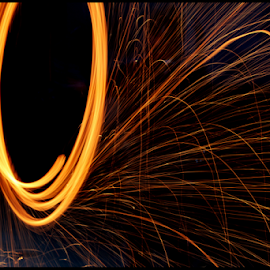 Steel Wool by Mihir Shah - Abstract Light Painting ( light painting, steel wool, steelwool, light trails, sparks, light, fire,  )