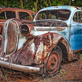Oliver Jordan Collection - Blue Rust by Ron Meyers - Transportation Automobiles