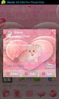 Screenshot of GO SMS Pro Theme Kitty