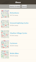 Screenshot of Bike Hub Cycle Journey planner