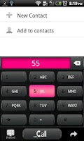 Screenshot of GO CONTACTS - Froyo Style Pink