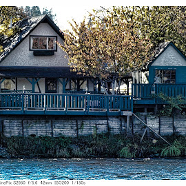 Livin' on the River by Art Straw - Buildings & Architecture Homes ( old, fishing, scenic, waterfront, heritage, river )