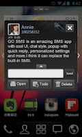 Screenshot of GO SMS Pro Dark Theme