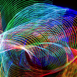 Elbow ! by Jim Barton - Abstract Patterns ( laser light, colorful, light design, elbow, laser design, laser, light, science )