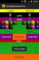 Screenshot of Snooker Counter