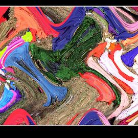 Artist Palette by Prasanta Kumar Banerjee - Abstract Patterns